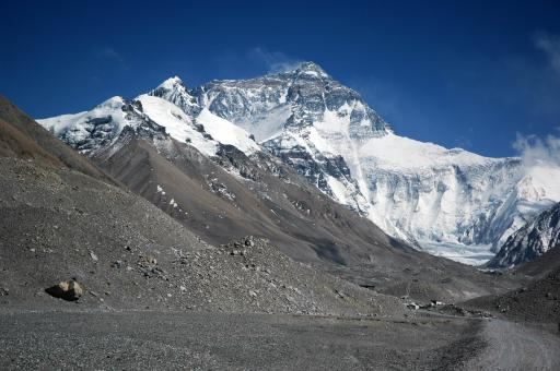 Himalaje - widok na Mount Everest z doliny Rongbuk